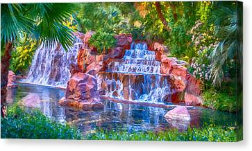 Waterfall Canvas Print by David Millenheft