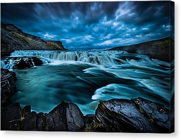 Waterfall Drama Canvas Print by Chris McKenna