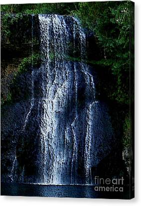 Canvas Print featuring the photograph Waterfall by Erica Hanel
