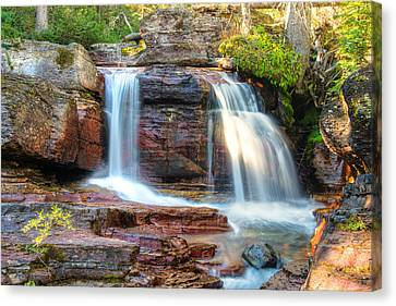 Waterfall Canvas Print by Gary Lengyel