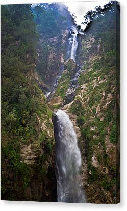 Waterfall Highlands Of Guatemala 1 Canvas Print