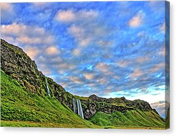 Canvas Print featuring the photograph Waterfall Hill by Scott Mahon