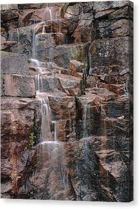 Maine Mountains Canvas Print - Waterfall In Acadia National Park  by Juergen Roth