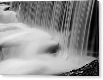 Sun Rays Canvas Print - Waterfall In Black And White by Tommytechno Sweden