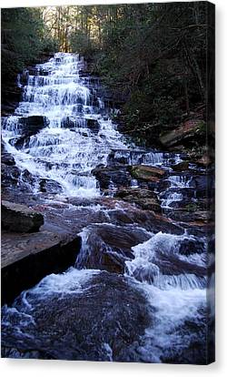 Waterfall In Georgia Canvas Print by Angela Murray