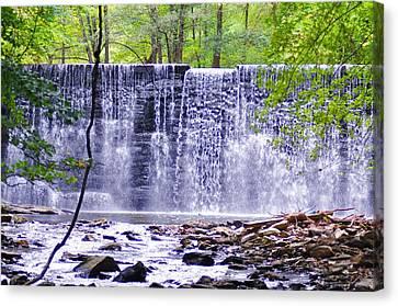 Hidden Falls Canvas Print - Waterfall In Gladwyne by Bill Cannon