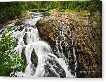 Waterfall In Wilderness Canvas Print by Elena Elisseeva