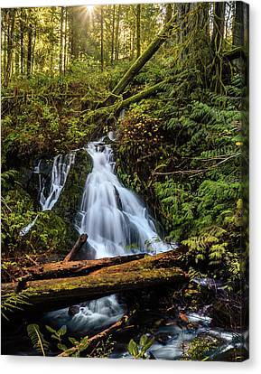 Waterfall Canvas Print by Keith Boone