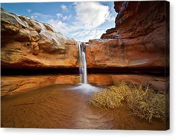 Waterfall Of Desert Canvas Print by William Church - Summit42.com