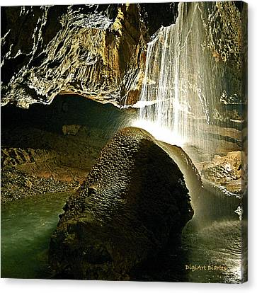 Waterfall Of The Caverns Canvas Print