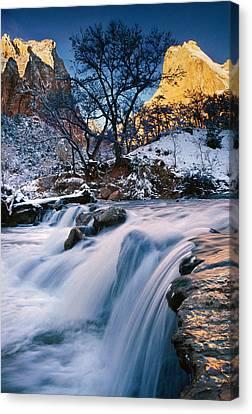 Waterfall Over Rocks Canvas Print