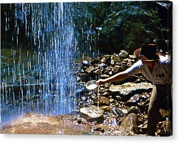 Canvas Print featuring the photograph Waterfall Panner by Lori Miller