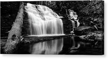 Waterfall Reflection Canvas Print