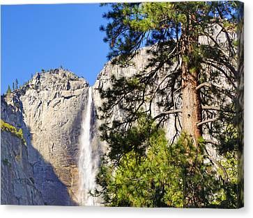 Waterfall Yosemite Canvas Print