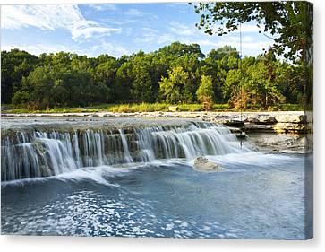 Waterfalls At Bull Creek Canvas Print by Mark Weaver