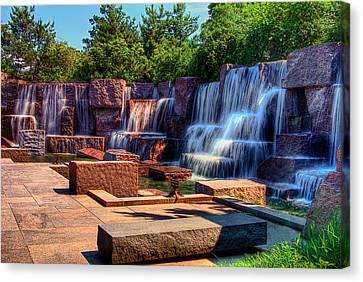 Waterfalls Fdr Memorial Canvas Print