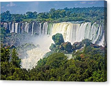 Waterfalls In Iguazu Falls National Park-argentina Canvas Print by Ruth Hager