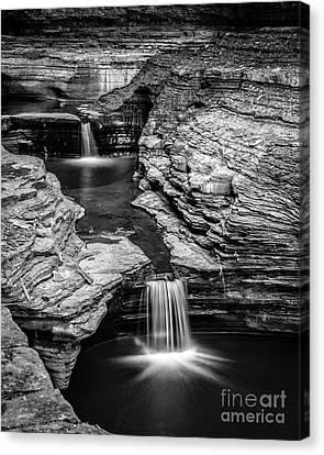 Waterfalls Watkins Glen State Park New York Canvas Print by Edward Fielding