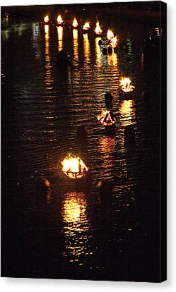 Waterfire Lights Canvas Print