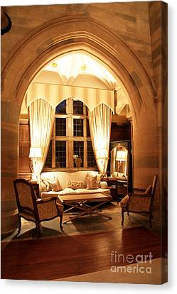 Waterford Castle Hotel Interior Canvas Print by Ros Drinkwater