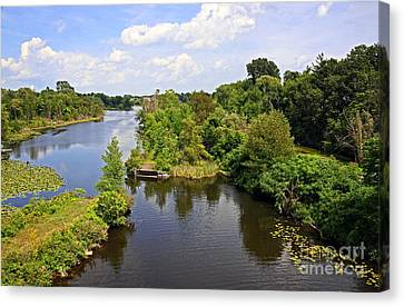 Waterford Ponds Park Canvas Print by Charline Xia