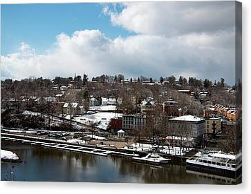 Waterfront After The Storm Canvas Print by Jeff Severson