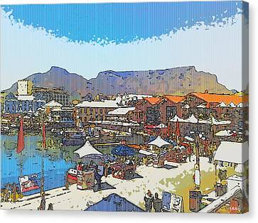 Waterfront And Table Mountain Canvas Print