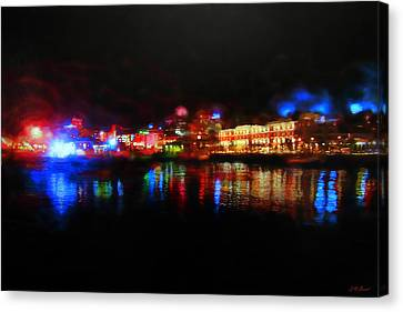 Impressionist Canvas Print - Waterfront Aura by Michael Durst
