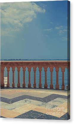 Waterfront Balcony Ringling Ca D Zan The Last Of The Gilded Mansions Canvas Print by Edward Fielding