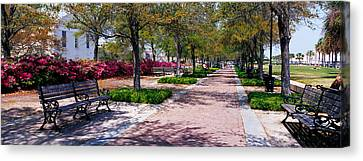 Waterfront Park Charleston Sc Usa Canvas Print by Panoramic Images