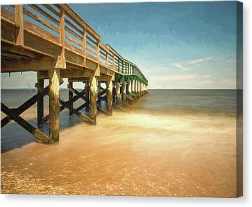 Canvas Print featuring the photograph Waterfront Park Pier 1 by Gary Slawsky
