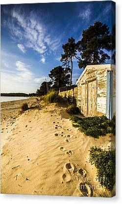 Waterfront Shed Canvas Print by Jorgo Photography - Wall Art Gallery