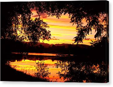 Waterfront Spectacular Sunset Canvas Print by James BO  Insogna