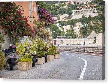 Waterfront Street In Villefranche-sur-mer Canvas Print
