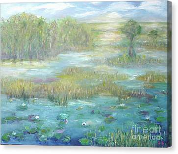 Waterglades Park 2 Of Palm Beaches Canvas Print by Barbara Anna Knauf