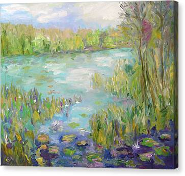 Waterglades Park Florida Canvas Print by Barbara Anna Knauf