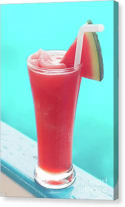 Canvas Print featuring the photograph Waterlemon Smoothie by Atiketta Sangasaeng