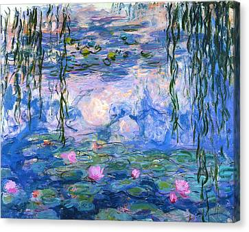 Waterlilies 1919  Canvas Print by Claude Monet