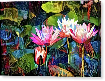 Waterlilies 8 Canvas Print