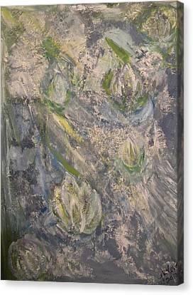 Waterlilies Canvas Print by Carmen Kolcsar