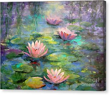 Waterlilies Canvas Print by Madeleine Holzberg