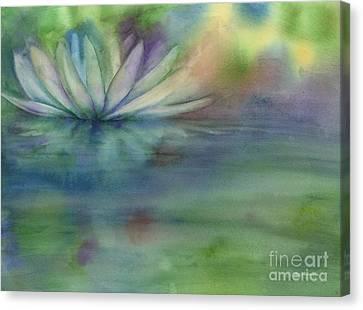 Waterlily Canvas Print by Amy Kirkpatrick