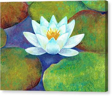Canvas Print featuring the painting Waterlily by Elizabeth Lock