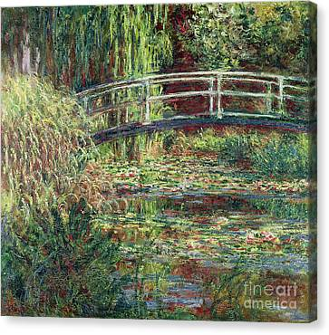 Waterlily Pond Pink Harmony 1900 Canvas Print