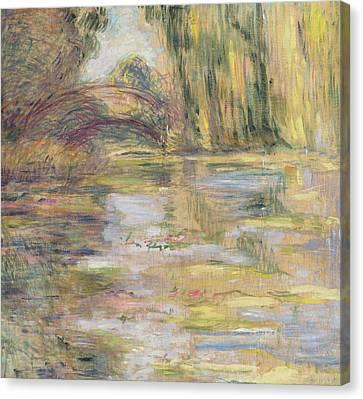 Waterlily Pond, The Bridge Canvas Print by Claude Monet