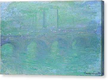 Waterloo Bridge, Dusk Canvas Print by Claude Monet