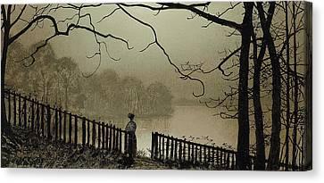 Waterloo Lake Roundhay Park Leeds Canvas Print
