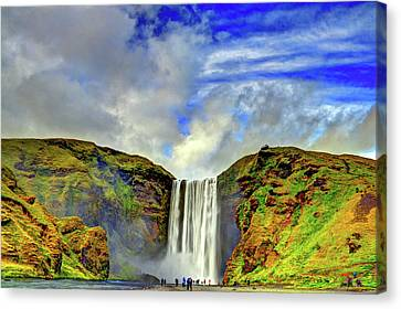 Watermall And Mist Canvas Print