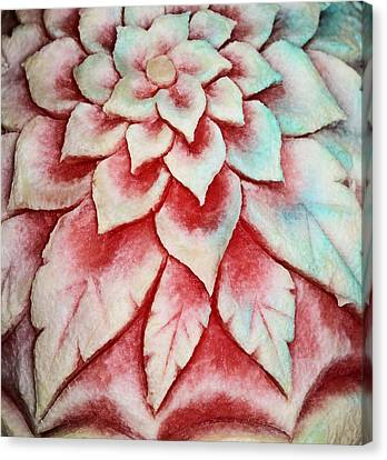 Canvas Print featuring the photograph Watermelon Carving by Kristin Elmquist