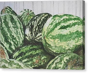 Watermelon Canvas Print by Sue Ann Glenn